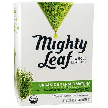 Mighty Leaf Whole Leaf Tea - Organic Emerald Matcha- 12's