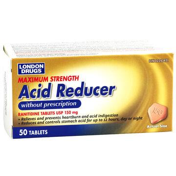 London Drugs Maximum Strength Acid Reducer 150mg Tablets - 50's
