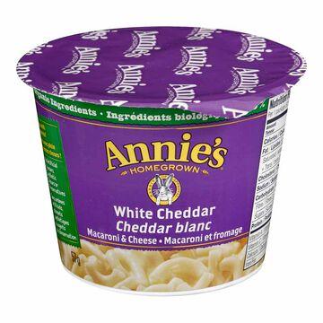 Annie's Microwave Mac & Cheese - White Cheddar - 57g cup