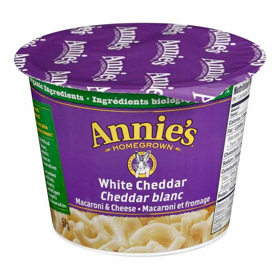 Annie's Microwave Mac & Cheese - White Cheddar - 57g cup