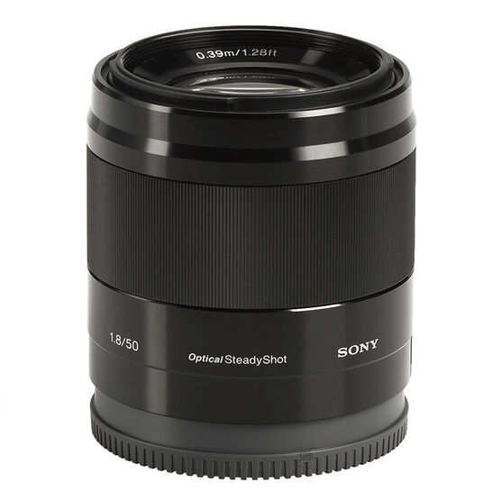 Sony E Mount DT 50mm F1.8 Lens - Black - SEL50F18B
