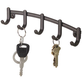 InterDesign York Lyra Wallmount Key Rack - Bronze - Large