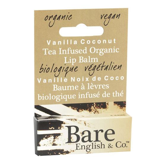 Bare English Tea Infused Organic Lip Balm - Vanilla Coconut - 4.44ml