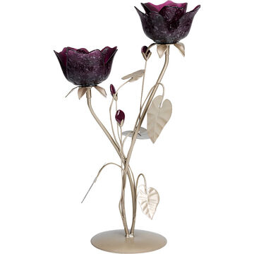 London Drugs Glass Rose Candle Holder - 2 Roses