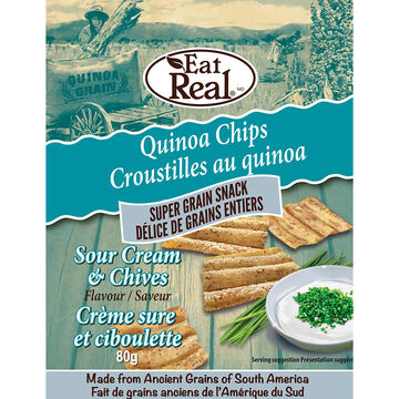Eat Real Quinoa Chips - Sour Cream - 80g