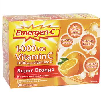 Emergen-C Vitamin C Super Orange - 30's