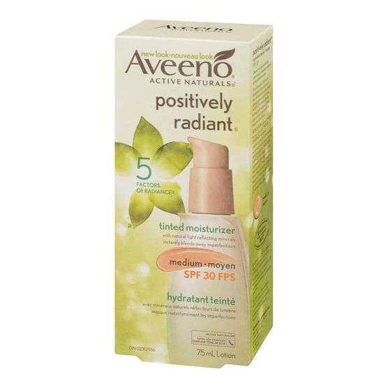 Aveeno Positively Radiant Tinted Moisturizer - SPF 30 - Medium - 75ml