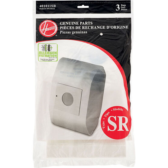 Hoover Type SR Allergen Bag - 3 pack