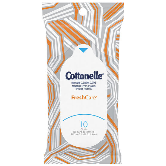 Cottonelle FreshCare Flushable Cleansing Cloths - 10's