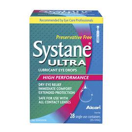 Systane Ultra Preservative Free Lubricant Eye Drops - 28 Vials  x 0.4ml Each