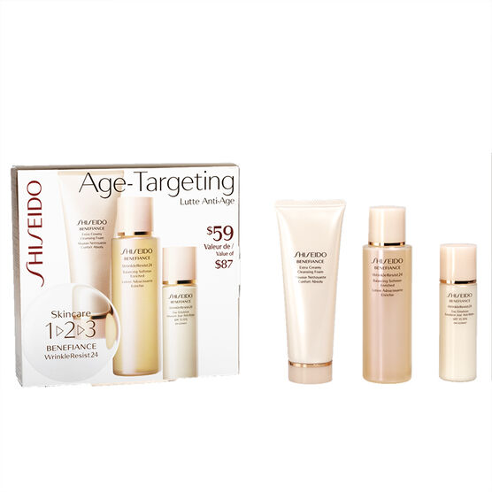Shiseido Benefiance Wrinkle Resist 24 Age-Targeting 1-2-3 Kit