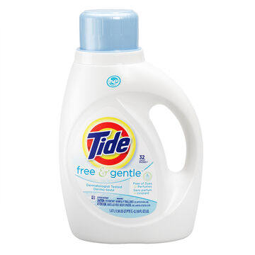 Tide HE Liquid Laundry Detergent - Free & Gentle - 1.47L/32 use