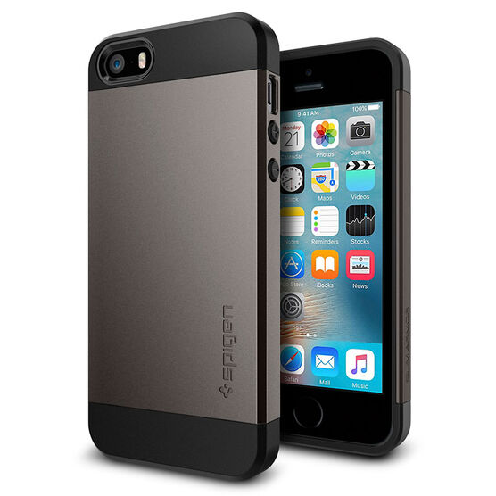 Spigen Slim Armor for iPhone 5/5s/SE - Gunmetal - SGP041CS20175