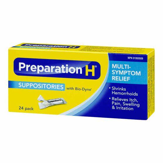 Preparation H Suppositories - 24's