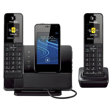Panasonic 2 Handset MicroUSB Dock Style Telephone with Smartphone Integration Capability - KX-PRD262