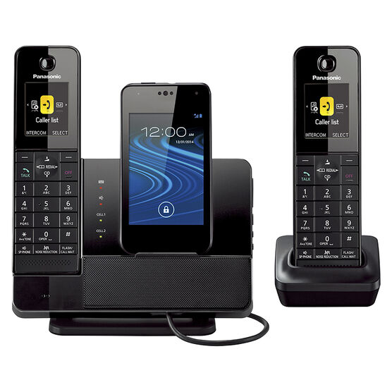 Panasonic 2 Handset MicroUSB Dock Style Telephone with Smartphone Integration Capability - KX-PRD262