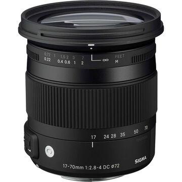 Sigma 17-70mm F2.8-4 DC Macro HSM Lens for Nikon - CAF1770DCN