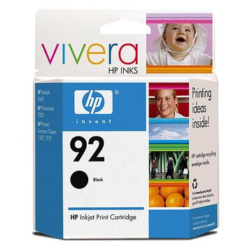 HP 92 Vivera Ink Cartridge - Black - C9362WN#140