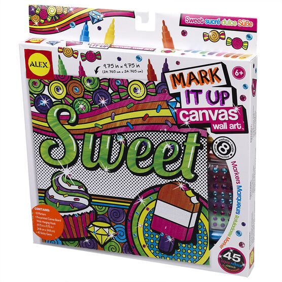 Alex Mark It Up Canvas Wall Art - Sweet