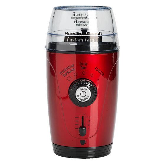 Hamilton Beach Deluxe Coffee Grinder - Metallic Red - 80366C