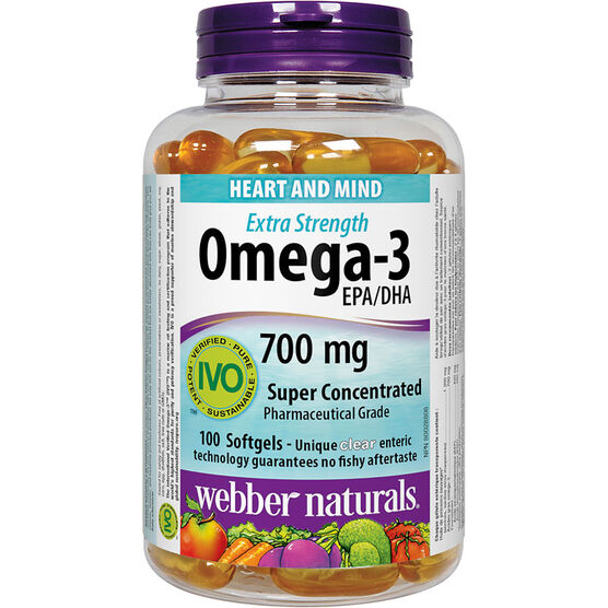 Webber Naturals Omega-3 Extra Strength Softgels - 100's