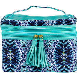 Modella Indigo Hues Fitted Double Zip Train Case - A004261LDC