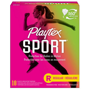 Playtex Sport Tampons - Regular - Unscented - 18's