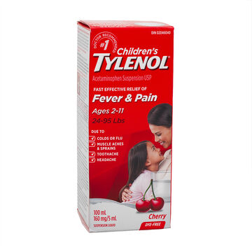 Tylenol* Children's Suspension Liquid - Cherry Blast - Dye Free - 100ml