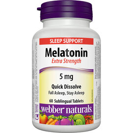 Webber Naturals Extra Strength Melatonin - Easy Dissolve - 5mg - 60's