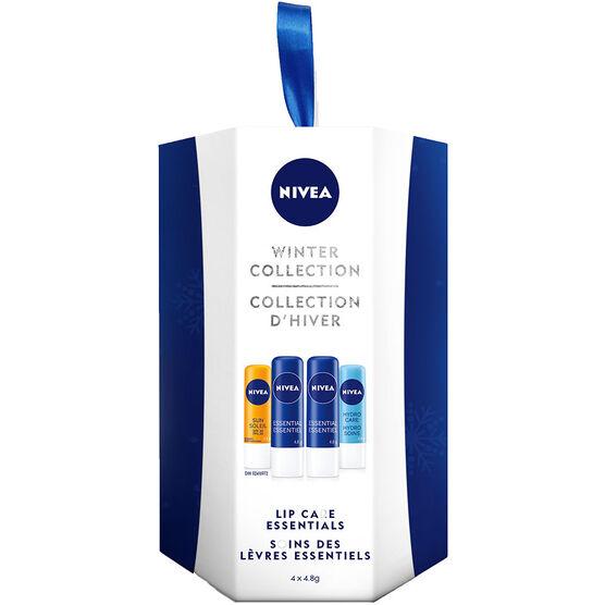Nivea Winter Collection Lip Care Essentials - 4 piece