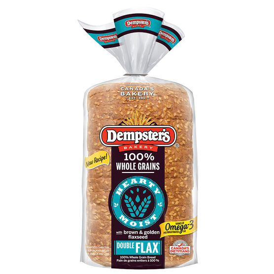 Dempsters Wholegrain Double Flax Bread - 600g