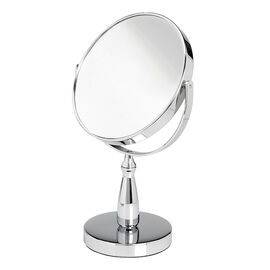 London Premiere Chrome Vanity Stand Mirror - 17cm