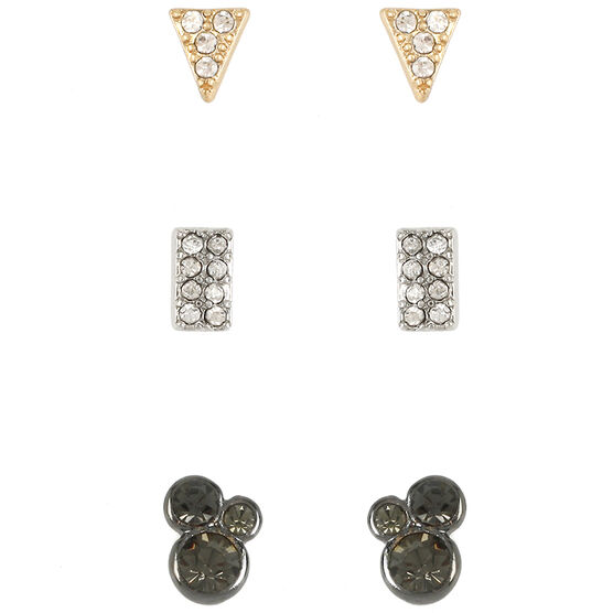 Kenneth Cole Tri Tone Stud Earring Trio