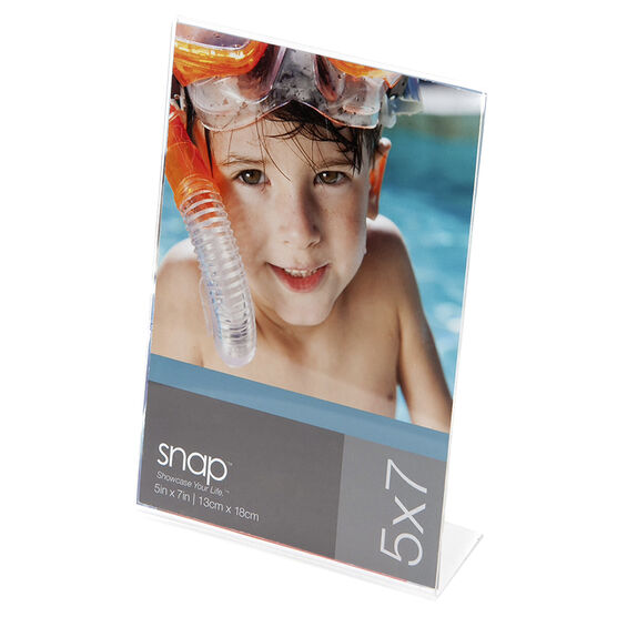 Pinnacle 5x7 V-Bent Photo Frame - Acrylic - 5x7in