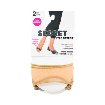Secret Step Savers Toe Cover - Nude - 2 pair