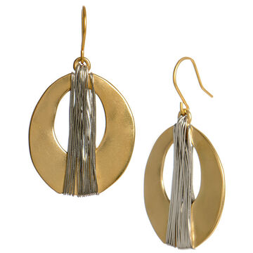 Kenneth Cole Wrapped Oval Drop Earrings - Gold Tone