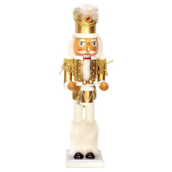 """Winter Wishes Champagne & Silver Nutcracker - 15"""""""