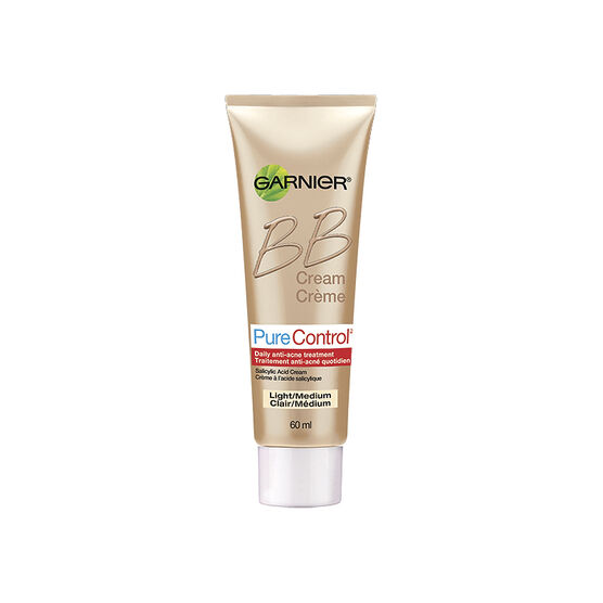 Garnier Pure Control BB Cream Anti-Acne Treatment - Light/Medium - 60ml