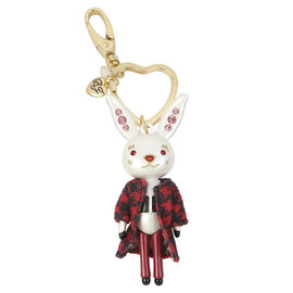 Betsey Johnson Bunny Keychain - Red/Gold