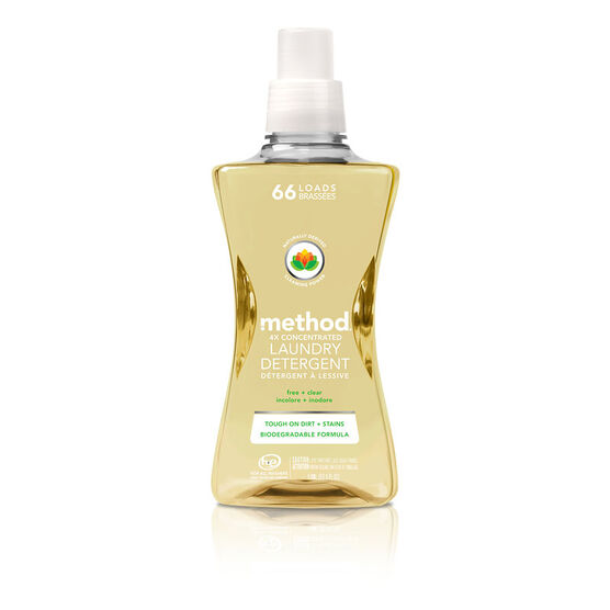 Method 4X Concentrated Laundry Detergent - Free and Clear - 1.58L/66 load