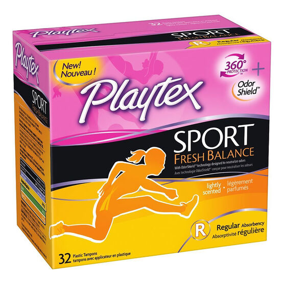 Playtex Sport Fresh Balance Tampons - Regular - 32's