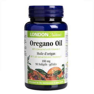 London Naturals Oregano Oil Softgels - 80 carbacrol/180mg - 90's