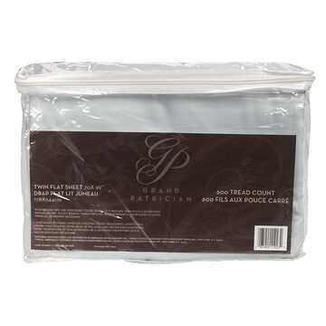 Grand Patrician Flat Sheet - Twin Size - Assorted