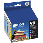 Epson 98 Claria Hi-Definition Ink 98 High-Capacity Ink Cartridge - Colour Multi-pack - T098920