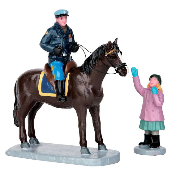 Lemax Mounted Policeman - Set of 2 Figurines