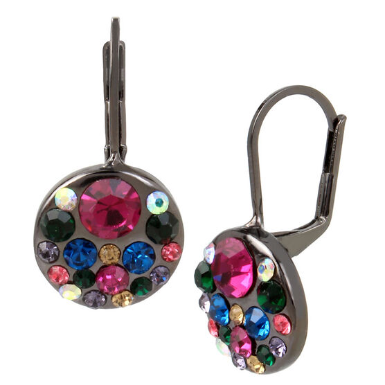 Betsey Johnson Confetti Cluster Drop Earrings - Multi