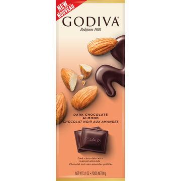Godiva Dark Chocolate Bar - Almond - 90g