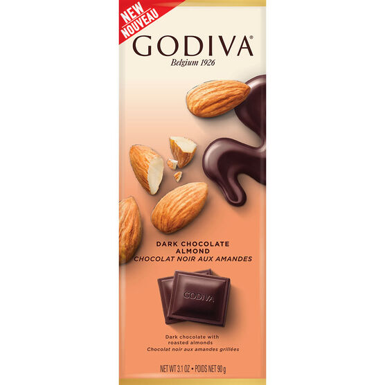 Godiva Dark Chocolate Bar - Almond - 90g
