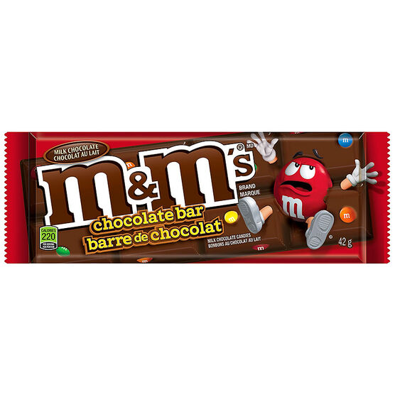 M&M Chocolate Bar - Milk Chocolate - 42g