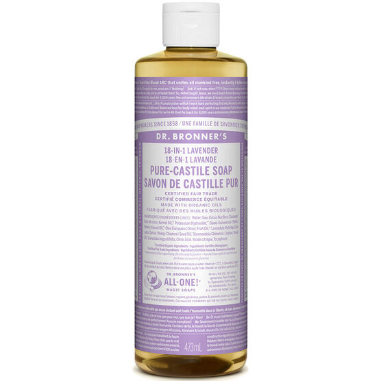 Dr. Bronner's Liquid Pure-Castile Soap - Lavender - 473ml
